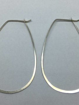 Melissa Joy Manning Sterling Silver Oval Hoops