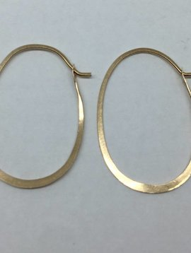 Melissa Joy Manning Gold Oval Hoops