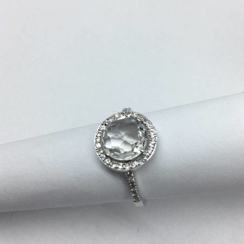 Suzanne Kalan White Gold Topaz Ring
