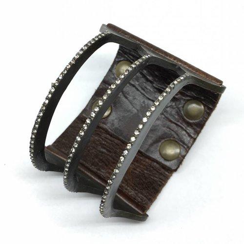Rebel Design 3 Bar leather bracelet