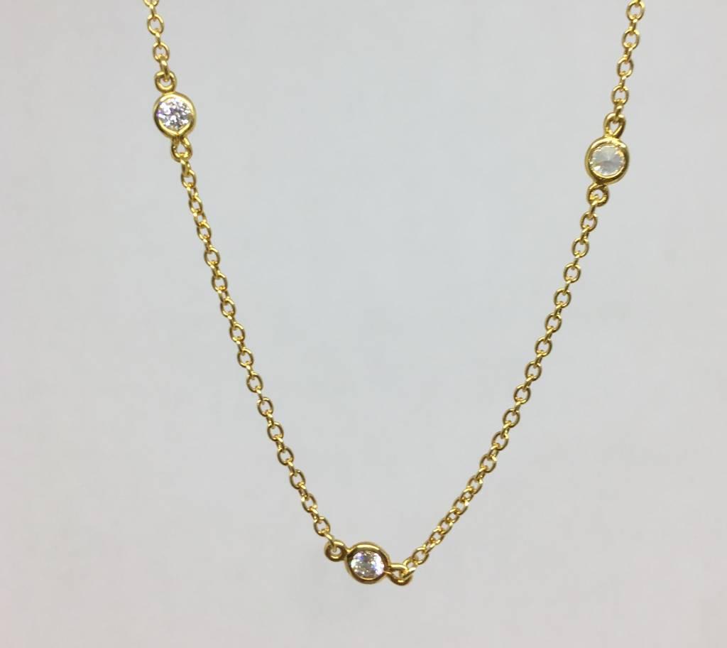 Nyla Star Crystal Station Necklace