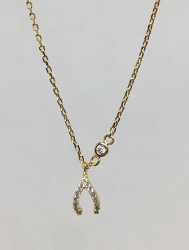 Tai Gold Wishbone Necklace