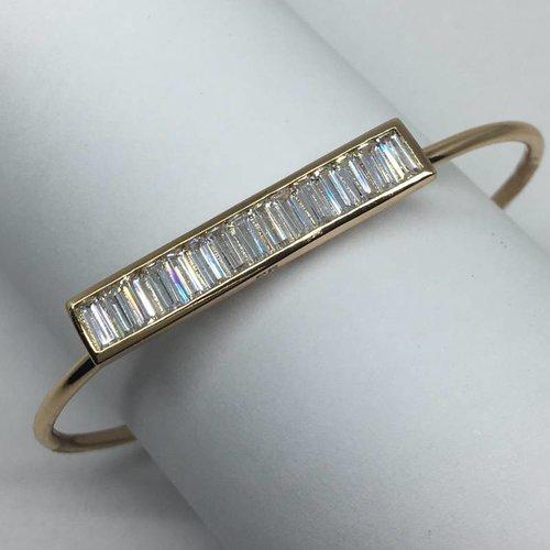 Rachael Ryen Vertical open bracelet