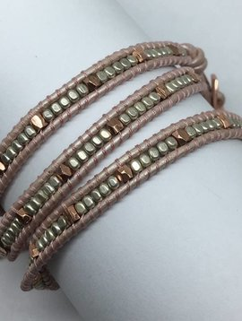 Nakamol Design Bronze Multi Mini Wrap Bracelet