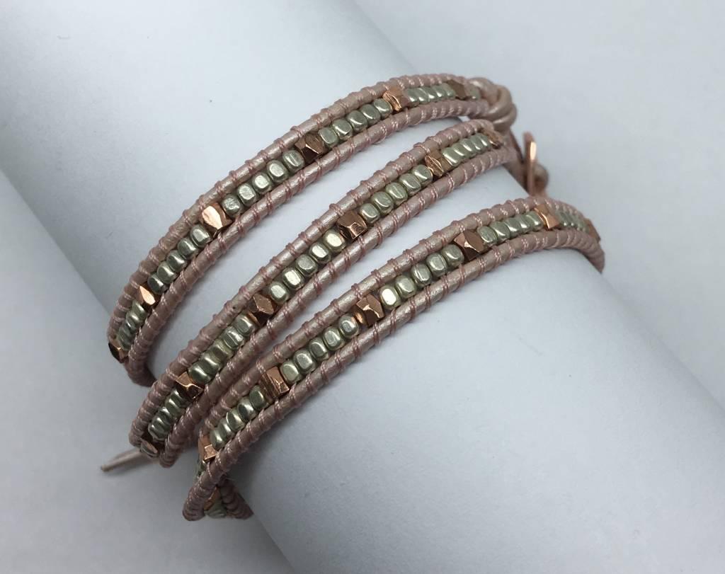 Nakamol Design Bronze Multi Mini Wrap Bracelet