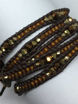 Nakamol Design Brown Wrap Bracelet