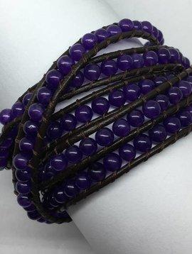 Nakamol Design Amethyst Wrap Bracelet