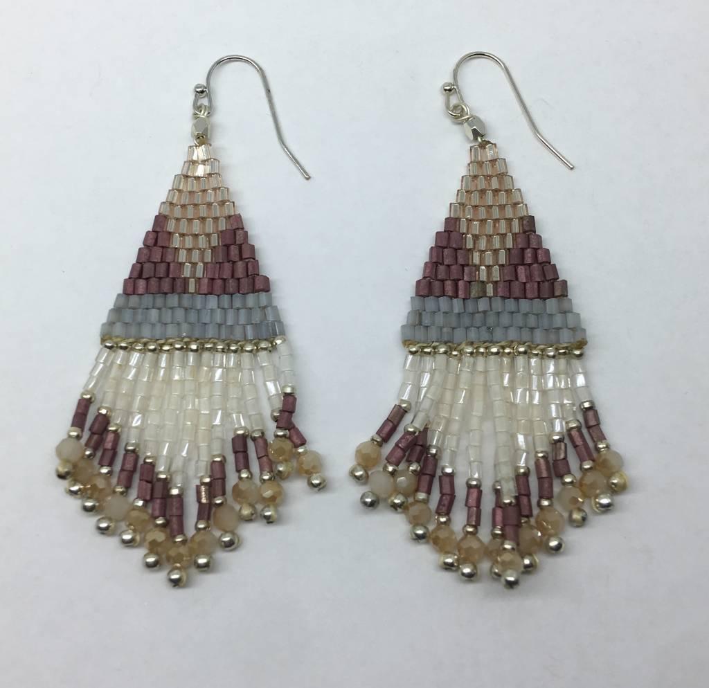 Nakamol Design Beaded Tassel Earrings