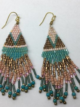 Nakamol Design Beaded Tassel Earring