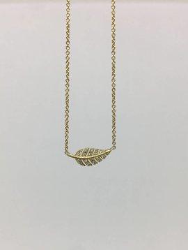 Jennifer Meyer Diamond Leaf Necklace