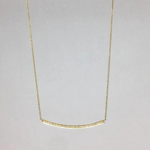 Dana Rebecca Curved Bar Necklace