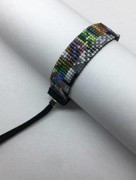 Julie Rofman Handwoven Glass Beaded Bracelet Dakota