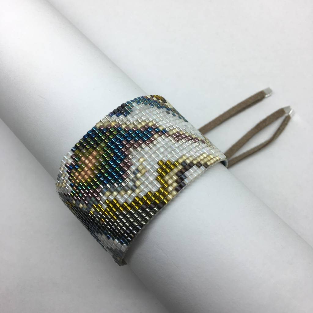 Julie Rofman Handwoven Glass Beaded Bracelet Tahiti