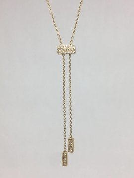 Dana Rebecca Yellow gold lariat necklace