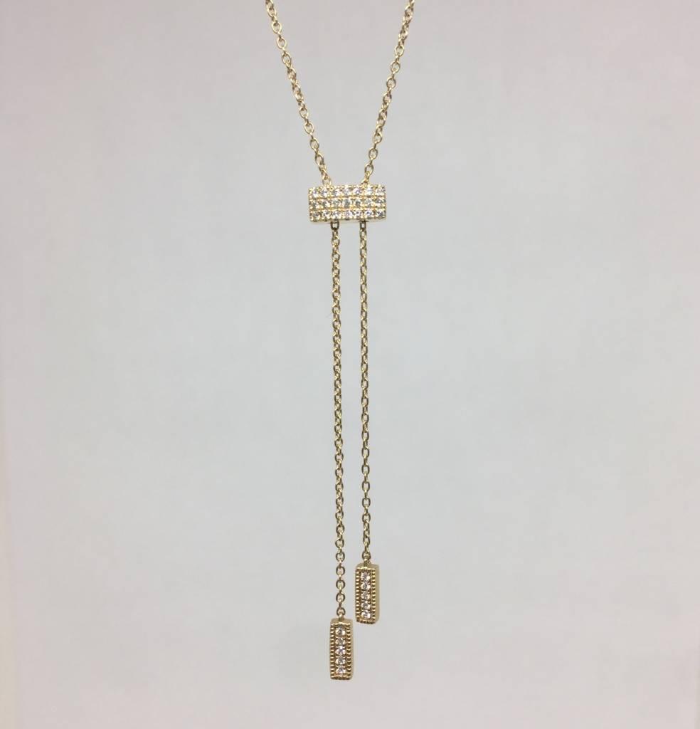 Dana Rebecca Yellow gold lariat necklace