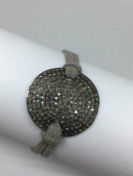 Lera Jewels Pave Suede Bracelet