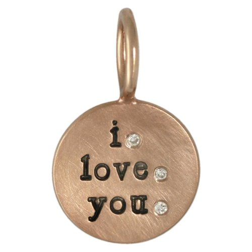 """Heather B. Moore Online """"I Love You"""" Round Charm"""