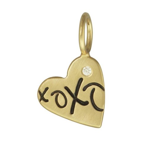 "Heather B. Moore Online ""XOXO"" Heart Charm"