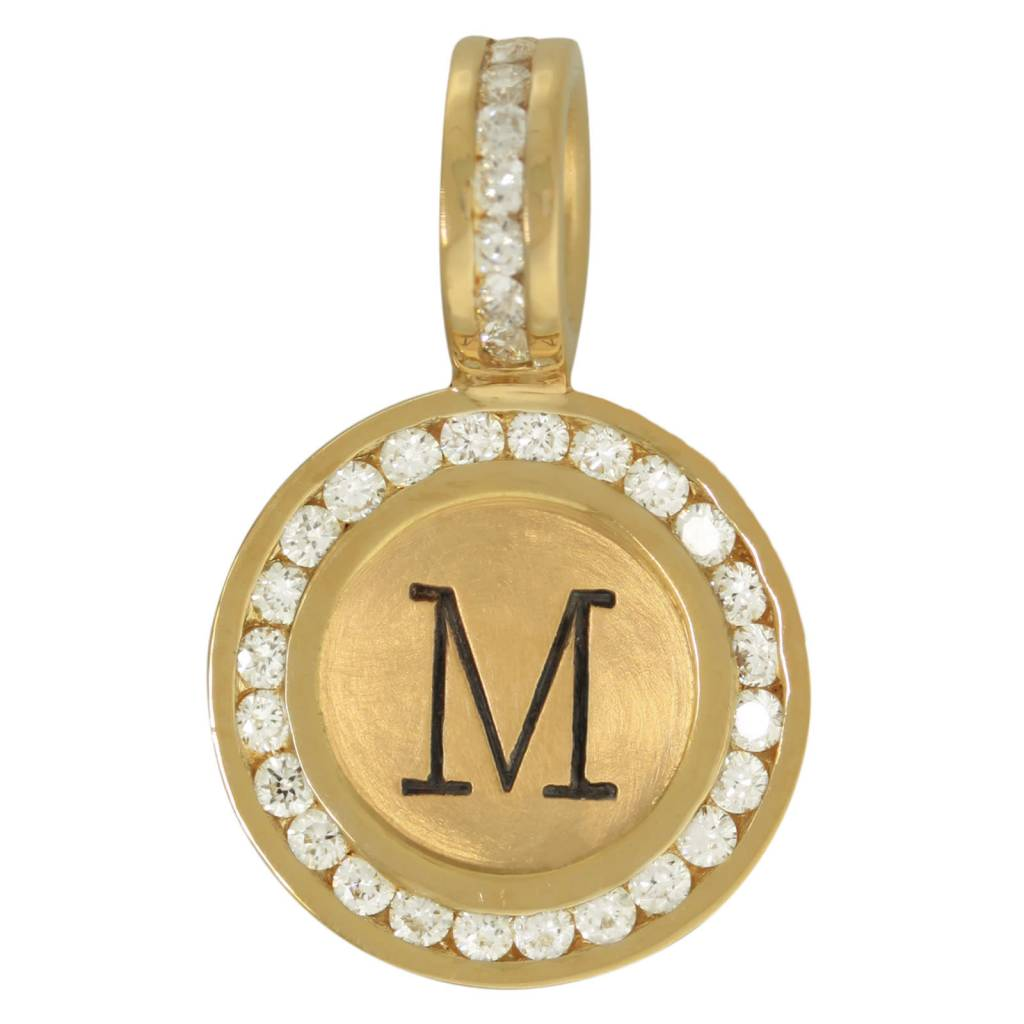 Heather B. Moore Online Channel Set Diamond Initial Charm
