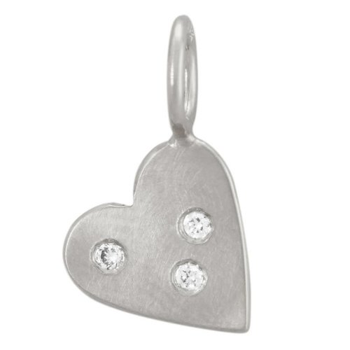Heather B. Moore Online Three Diamond Heart Charm