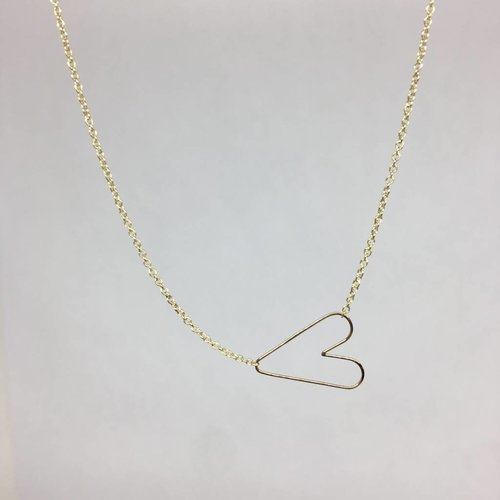 Zoe Chicco Hammered Heart