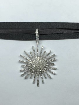 La Soula Sunburst Diamond Necklace