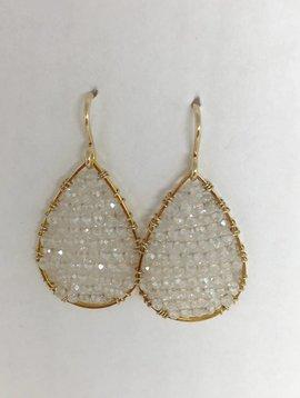 SonyaRenee Moonstone Mini Posh Earrings