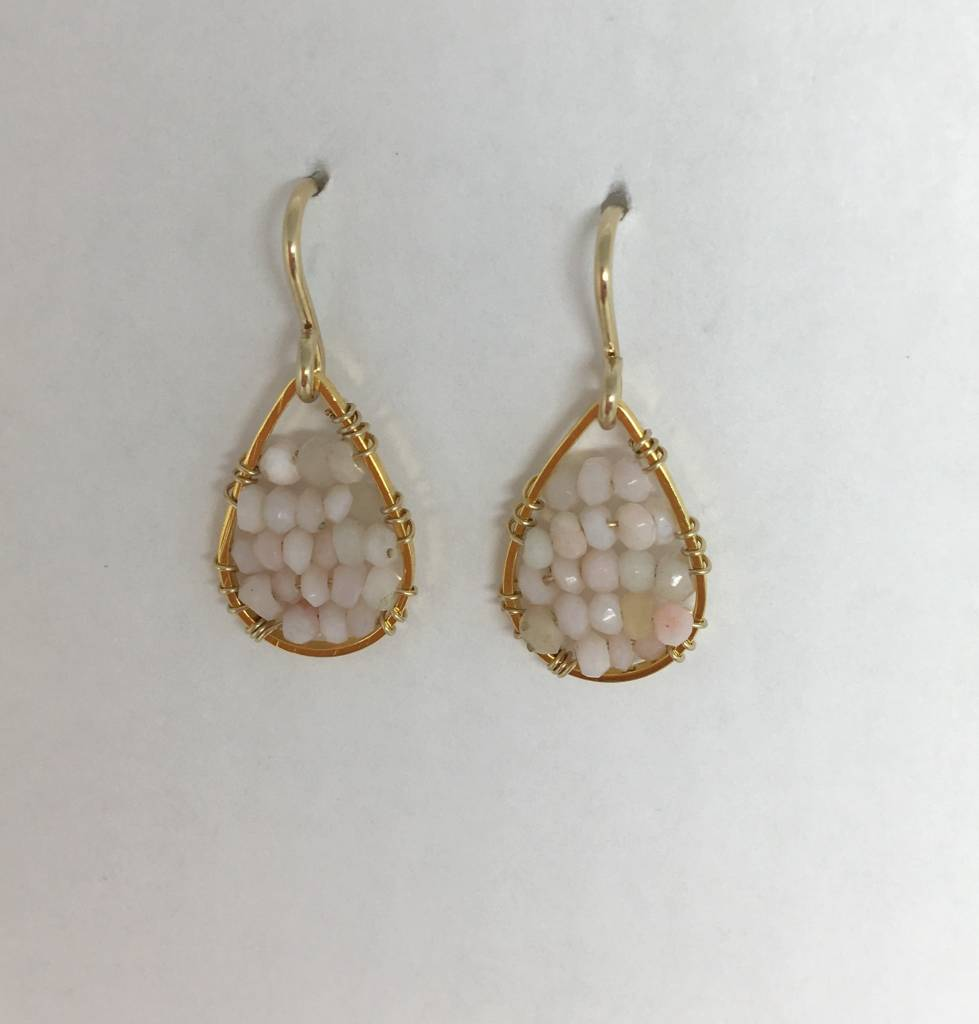 SonyaRenee Pink Opal Micro Posh Earrings