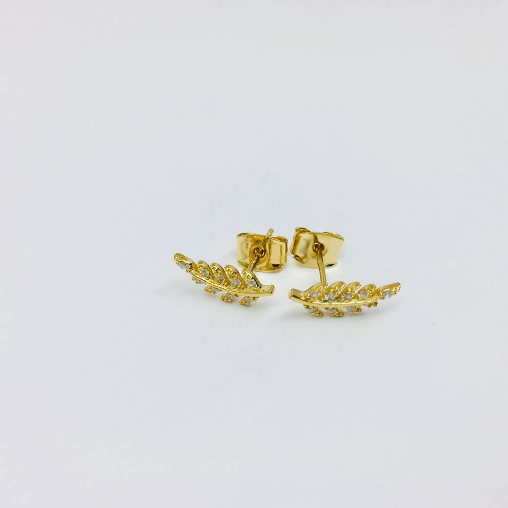 Tai Gold Leaf Studs