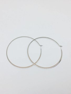 Tai Large Silver Hoops