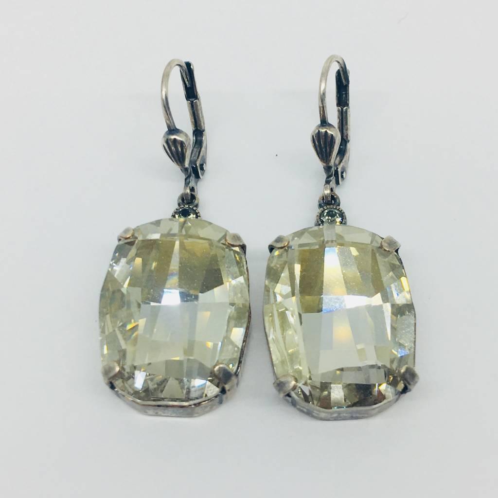 La Vie Parisienne Champagne Crystal Earrings