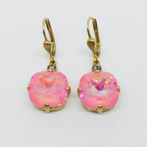 La Vie Parisienne Lavender Crystal Earrings