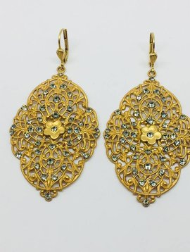 La Vie Parisienne Gold Brocade Earrings