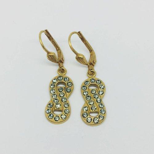 La Vie Parisienne Infinity Drop earrings