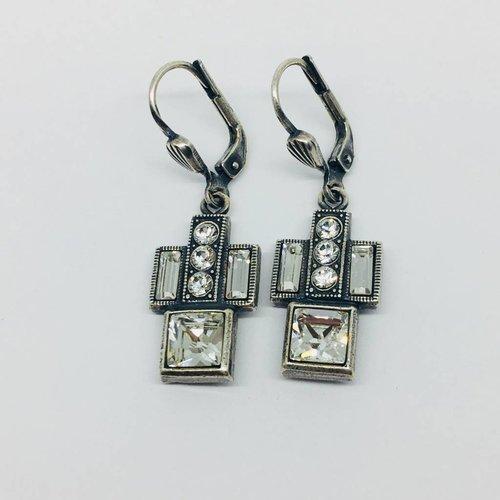 La Vie Parisienne Crystal art deco earrings