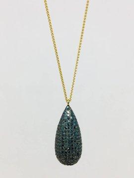 Lera Jewels Pave Teardrop Necklace