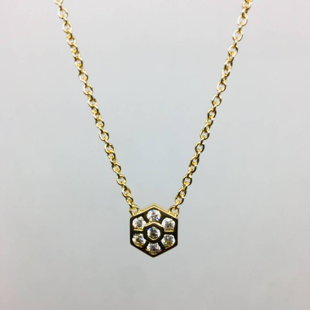 Rachael Ryen Crystal Flower Necklace