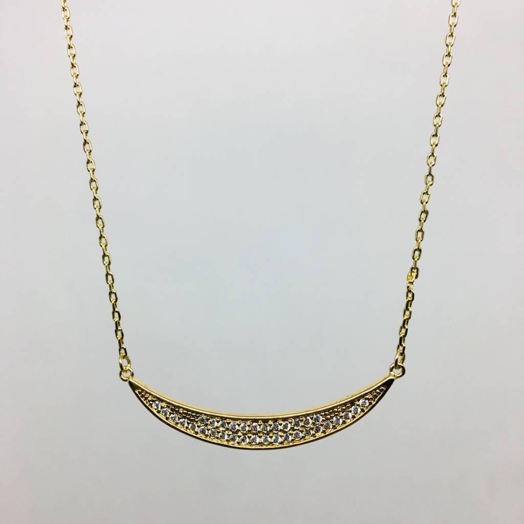 Rachael Ryen Pave Curve Necklace