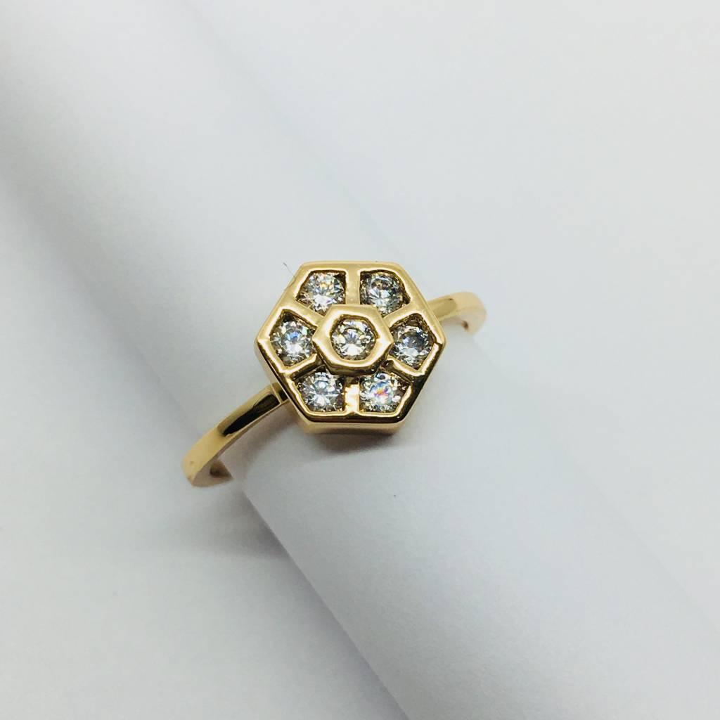 Rachael Ryen Crystal Flower Ring