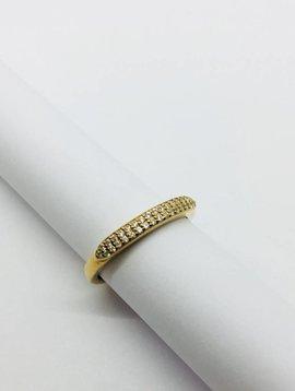 Rachael Ryen Pave Band Ring Gold