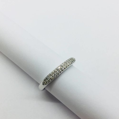 Rachael Ryen Pave Band Ring Silver
