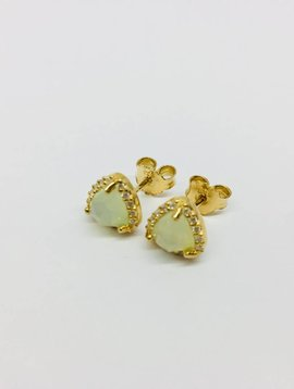 Rachael Ryen Moonstone Stud Earrings