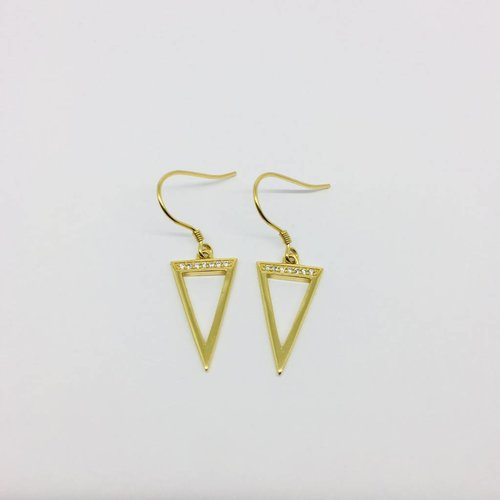 Rachael Ryen Open Triangle Earrings