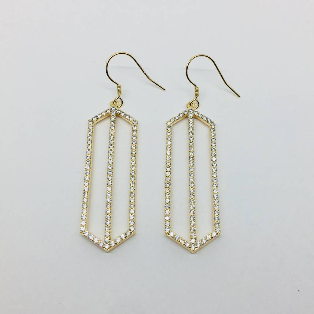 Rachael Ryen Pointed Rectangle Drop Earrings