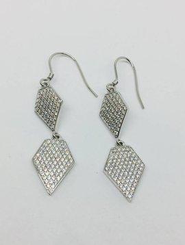 Rachael Ryen Pave Diamond Drop Earrings
