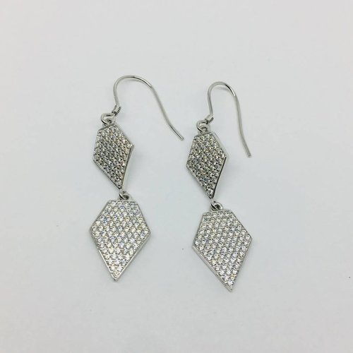 Rachael Ryen Pave Diamond Drop Earrings