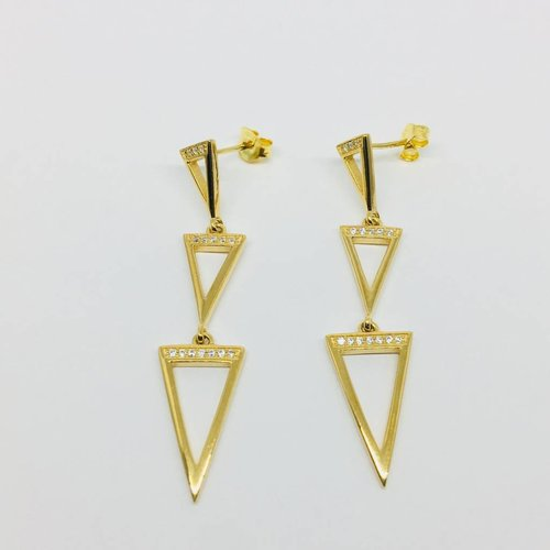 Rachael Ryen Open Triangle Drop Earrings