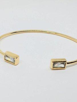 Rachael Ryen Open Crystal Rectangle Bracelet