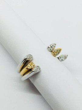 Rachael Ryen Open Pave Ring