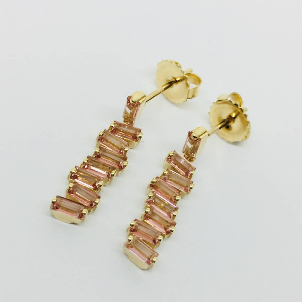 Suzanne Kalan Baguette Dangle Earring